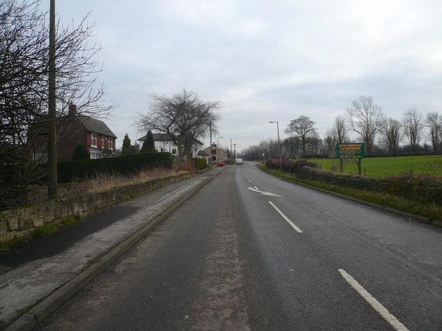 Approaching Barlborough on Sheffield Road