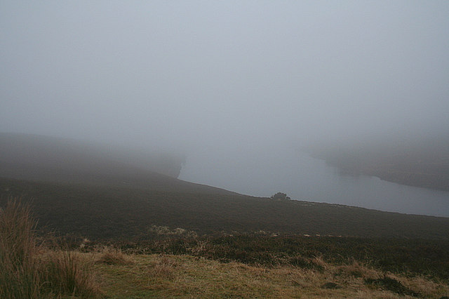 Low cloud about to enshroud Clunas reservoir