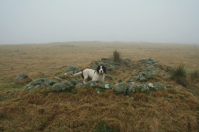Hut circle on the slopes of Carn Mor