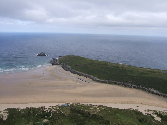 Pentire Point East, from above Crantock Beach