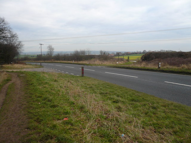 A619 Junction with Old Hall Lane