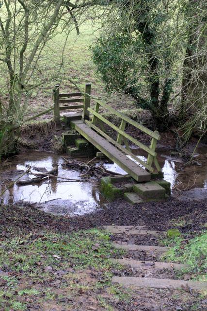 Simple bridge over Wash Brook