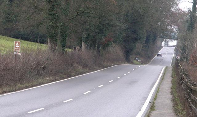 The A515 near Fenny Bentley