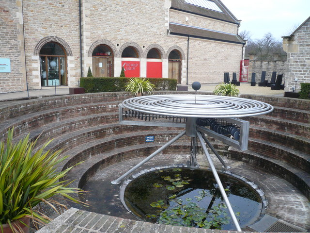 The Harley Gallery and Water Sculpture