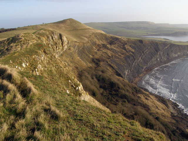 View from Gad Cliff towards Tyneham Cap