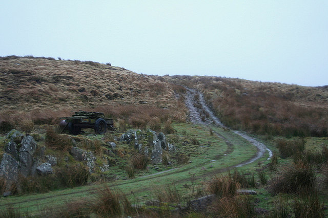 Mountain track to Carn Maol