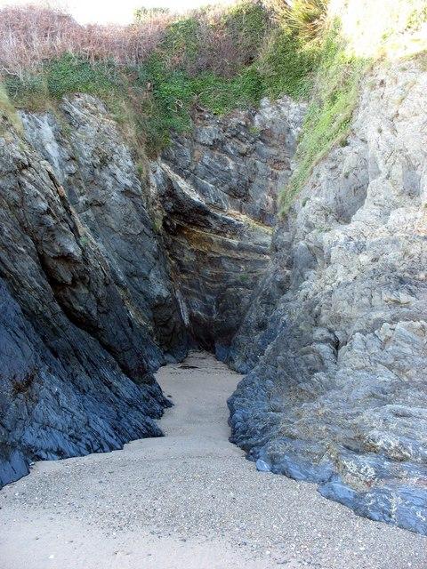 Sea eroded cove