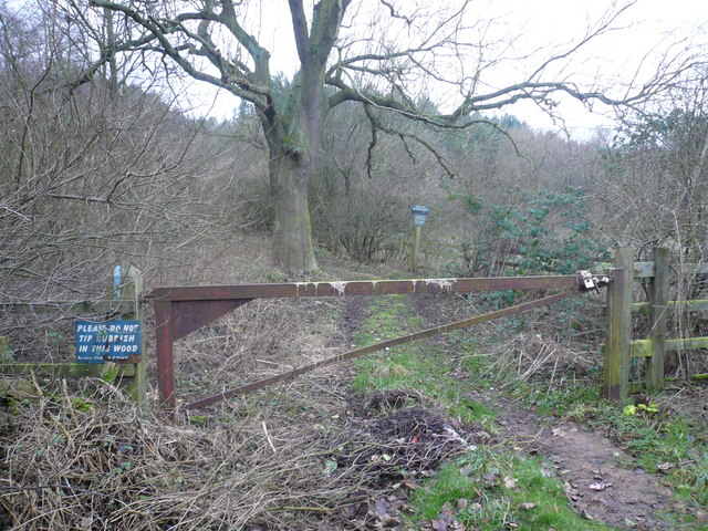 Private Track into Scarcliffe Park