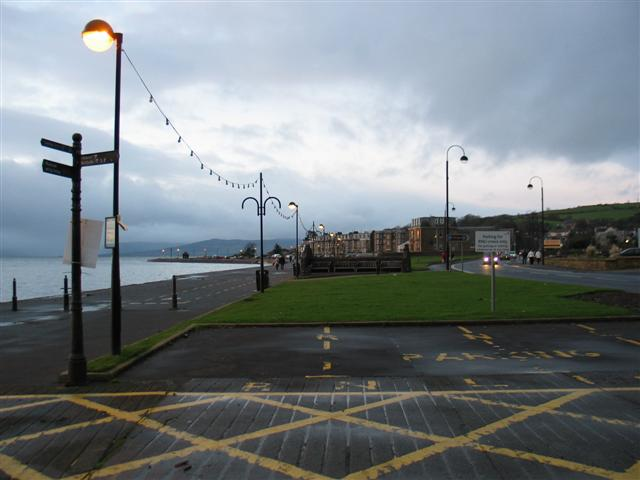 Evening on Largs promenade