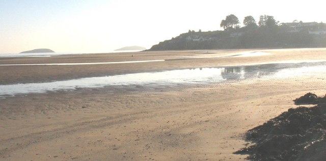 Exposed sandbanks in the Soch Estuary