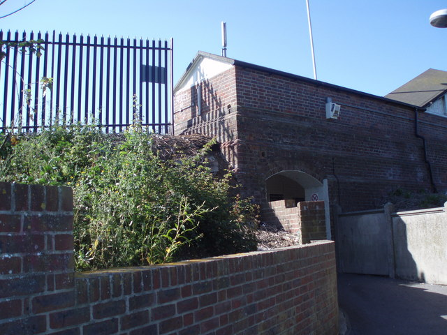 Entrance to Up platform at Emsworth Station