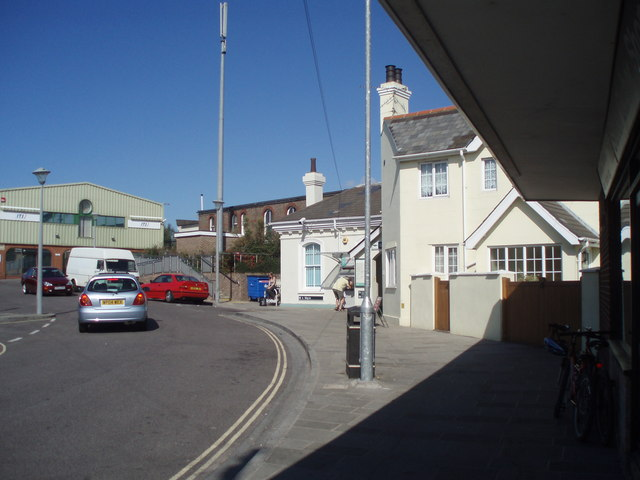 Looking past station towards ITS