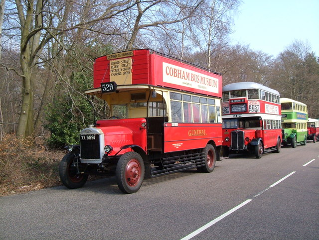 Vintage Buses at Longcross Test Track.