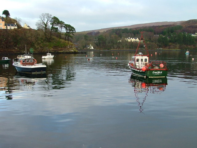 Boats in Portree Bay
