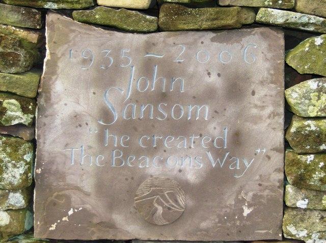 Plaque to John Sansom