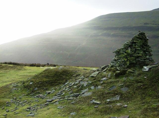 Cairn on the Tal Trwynau ridge