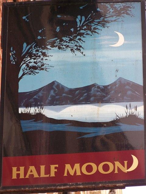 Sign for the Half Moon, Bridlington