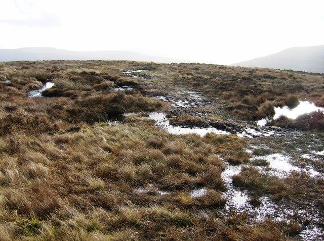 Path near summit of Pentwynglas