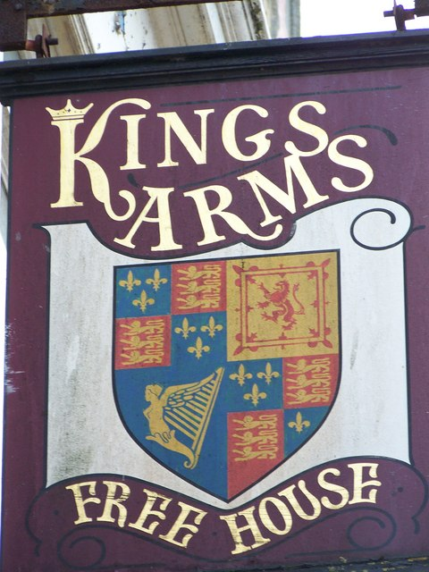 Sign for the Kings Arms, Bridlington
