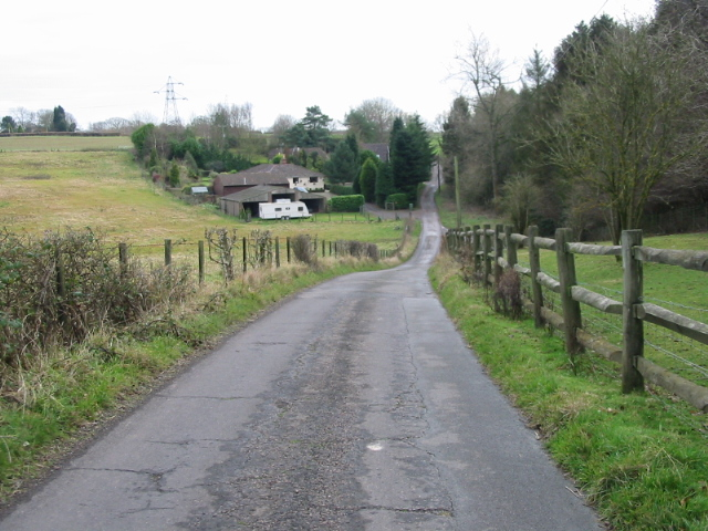 View SE along minor road