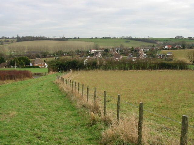 View across the N end of Elham