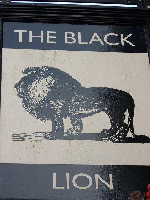 Sign for the Black Lion, Bridlington