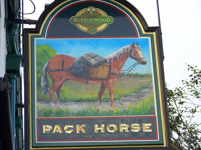 Sign for the Pack Horse, Bridlington