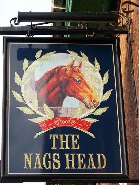 Sign for the Nags Head, Bridlington