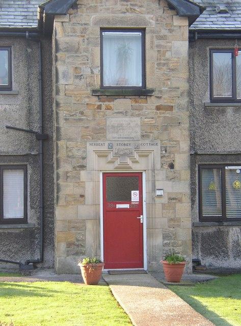 Doorway to the Herbert Storey Cottage, Westfield Village, Lancaster