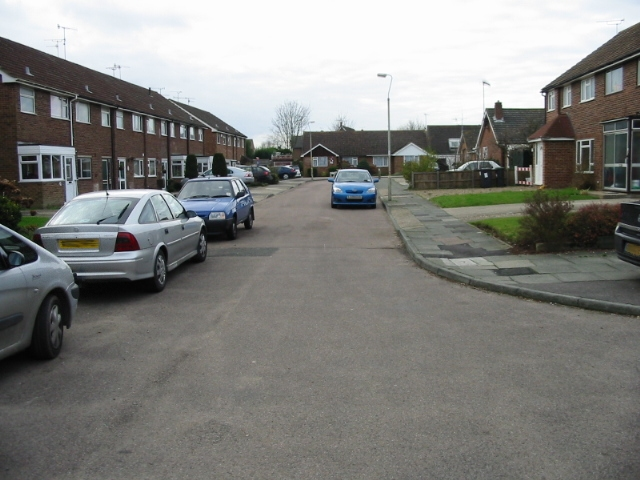 View along Willow Close