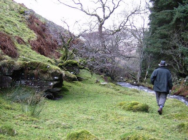 Walking beside the Gargwy Fawr