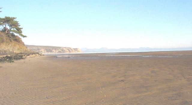 The beach immediately north of the Soch estuary