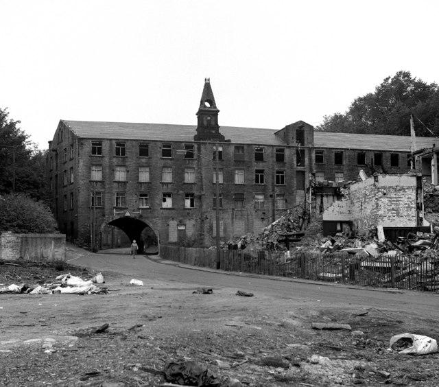 Derelict woollen mill, Longwood, near Huddersfield