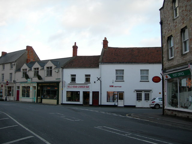 Corner of Broad Street, St John Street and Priory Road, Wells