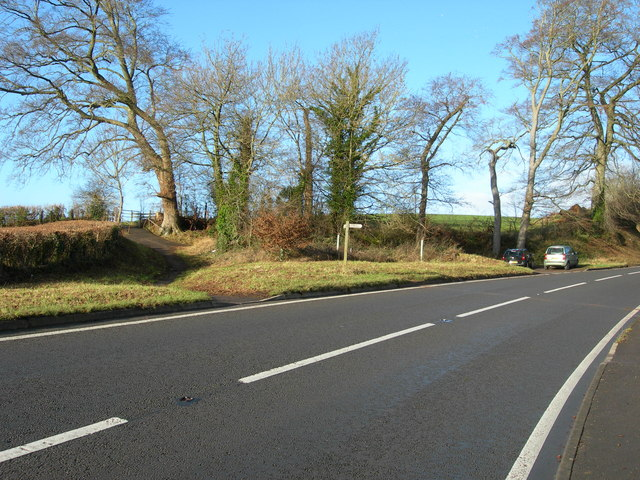 Footpath Crossing at Constitution Hill, near Dulcote