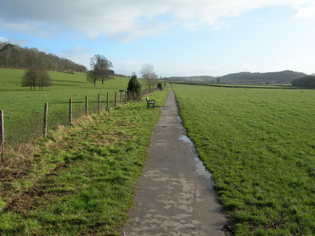 Footpath from Wells to Dulcote