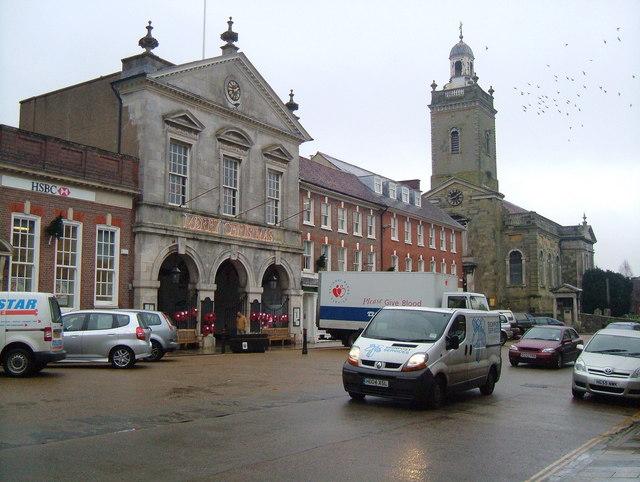 Blandford Forum Town Hall & Parish Church.
