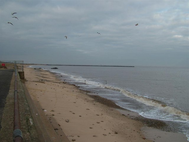 Start of the Outer Harbour, Great Yarmouth.