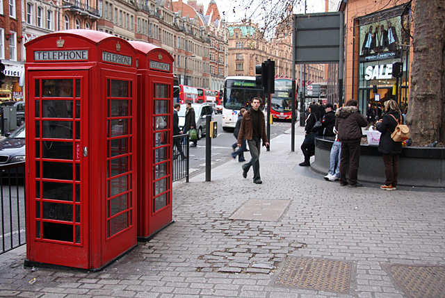 Phone Boxes on Brompton Road