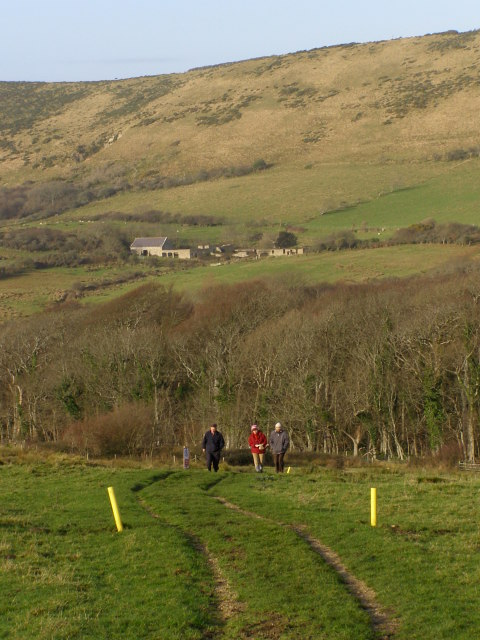 Range walk descending towards Tyneham