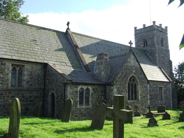 St Michael's churchyard (rear view) Catwick