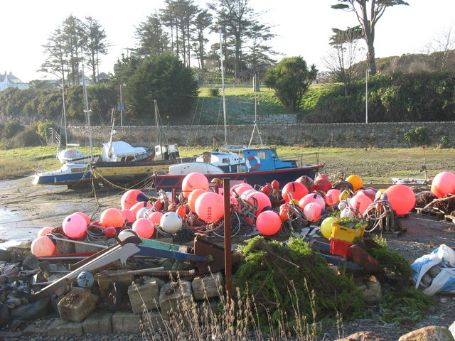 Boats and floats in Abersoch Harbour