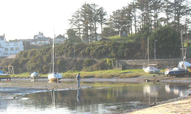 Low tide at Abersoch Harbour