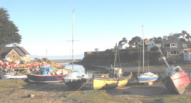 Moored craft at Abersoch Harbour
