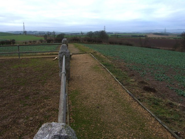 Westerly view from Pipers Hill monument