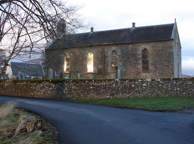 Wintry view of Lamington Church
