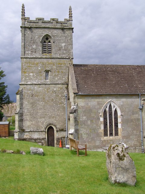 Tower of St Mary's church, Iwerne Courtney or Shroton
