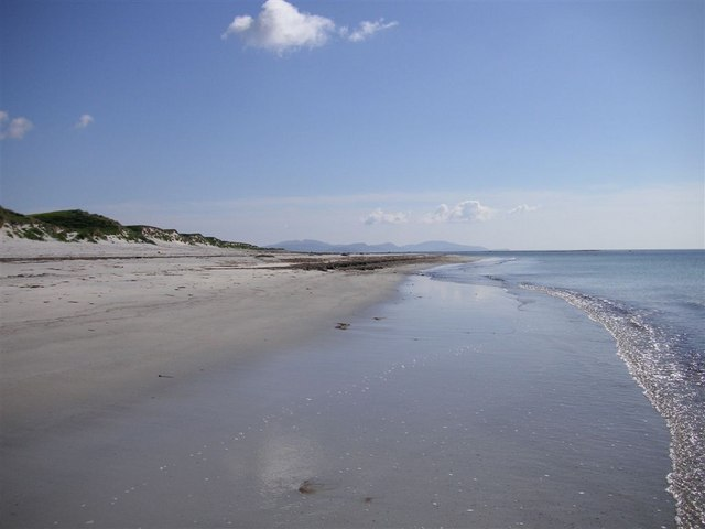 The Beach at Kilpheder, Looking South Towards Barra