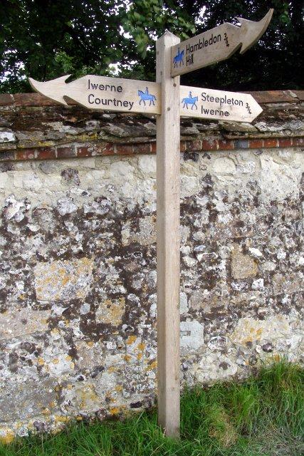 Bridleway direction post