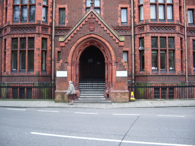 Entrance to Shire Hall, Bedford